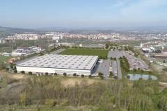 Až bude úplně hotovo, měl by průmyslový park s první halou vypadat jako na této vizualizaci.